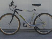 For offer is a BRIDGESTONE MOUNTAIN BIKE that has been