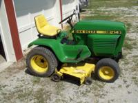 Just in time for mowing season I have a John Deere 214