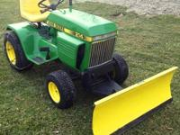 clean, front end is tight, looks nice, runs good, mows