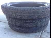 Combined set of tires for sale. 2 are Michelin, one is