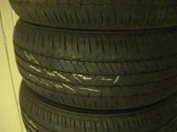 collection of 4 utilized bridgestone tires dimension