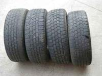 Four 215/60/16 Hankook Zovac snow tires on Toyota alloy