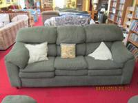 A overstuff couch and seat collection. The couch is 86""