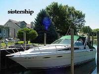 Here is a 1986 Sea Ray Sundancer 300, soft top with