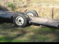 21' Tilt Car/Carrier Trailer, single axial. Great for