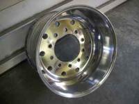 A set of 4 aluminum wheels. One side polished. Hub