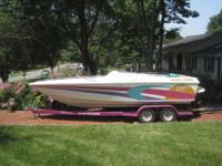 1993 Baja 24 Outlaw custom day cruiser boat, Special