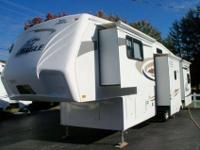 2008 JAYCO fifth WHEEL, Model #341RLQS 37' w/4 slides,