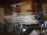 2002 AQUASPORT 225 osprey middle console 8.5' beam ,002