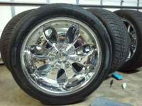 "22"" 6 LUGS OUT OF A CHEVY SILVERADO, WHEELS AND TIRES"