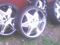"22"" Big Papi Akuza Rims  Inserts Are Now Painted"