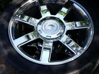"I got 22"" cadillac escalade wheels for sale I'm asking"