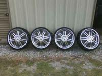 "Set of 4 Status 22"" chrome rims. Rims are 5 lug and 22"""