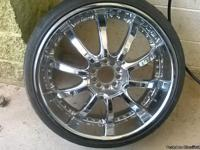 "I have a set of 22"" chrome rims/w tires. The tires have"