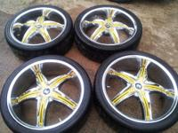 "For sale is a complete set of 22"" crave alloys wheels."