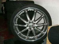 22/wheels w/tires like new 265/30r22 call steve at  or