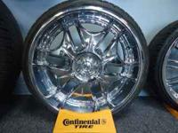 "22"" Dropstar Chrome Rims w/ 245-30-22 Nexen Tires $1350"