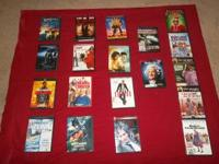 22 dvds....5.00 each or 5 for 20.00......50.00 takes