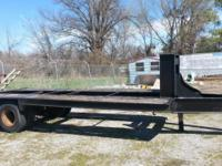 This is a 22 ft. Tandem Trailer with Pennell hitch and