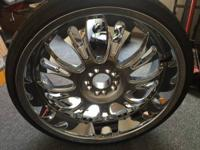 "For Sale 22"" Rims and tires are in good condition. They"