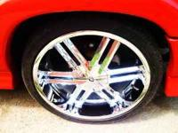 22 IN. CHROME RIMS 2 MONTHS OLD WITH 99% TREAD. THE