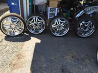 I have 22 inch rims with almost new tires the only