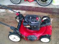 Toro lawn Mower 22 in self propell, no bag Work good, 1