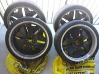 22inch rims all black with chrome lips. They are in