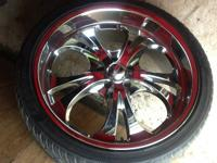 I have a set of 22 inch chrome boss 304 rims there in