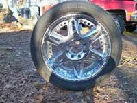 I have 4 chrome Chevy 8 lug rims for sale. Also come