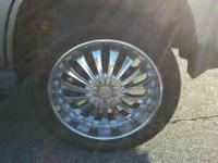 22 inch chrome wheels for sale. They are on my 2003