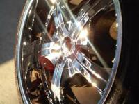 22 inch chrome rims 4 brand new tires 5 lug universal
