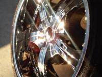 "22"" chrome rims 5 lug universal  All 4 Brand new"