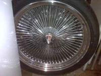 I HAVE A SET OF 22 INCH CHROME SPOKES IN FAIR CONDITION