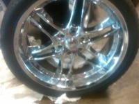 22 inch Rims and Good Tires and also a spare 22 inch
