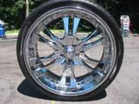 As you can tell by the photo these wheels, a set of