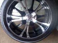 I HAVE A SET OF 22 INCH RIMS WITH TIRES SIZE 305/40R22