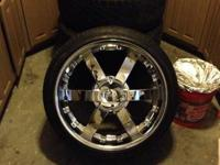I have 4 22in rims up for grab with tires ready to ride