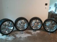 22 inch Rims and Tires forsale... Tires are in brand