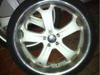 22 inch boss rims 5 lug were on a Marquis $450 . Trade