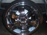 22 inch rimz for 6 lug universal. tires r low proz with