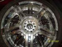22 INCH RIMS AND TIRES FOR SALE ASKING $500.00 THE