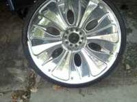 "I have a set of full face chrome RWD 22"" wheels and"