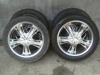 "22"" Incubus Banshee Wheels and Tires 6 on 135mm bolt"