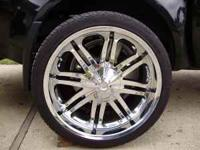 "Set of four 22"" Karizzma Chrome Wheels with tires. Came"