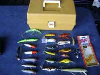 22 Name Brand Crankbait Fishing Lures, one new