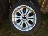 "22"" rims. Sporza brand. Universal five lug, tires are"