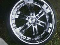 22'' rims realli cleain 6 lugs chevys or gmc tahoe