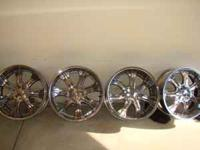 "I have 22"" rims that that came off a Dodge Charger,"
