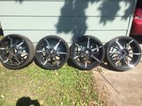 Almost brand-new rims and tires for sale. If it has the